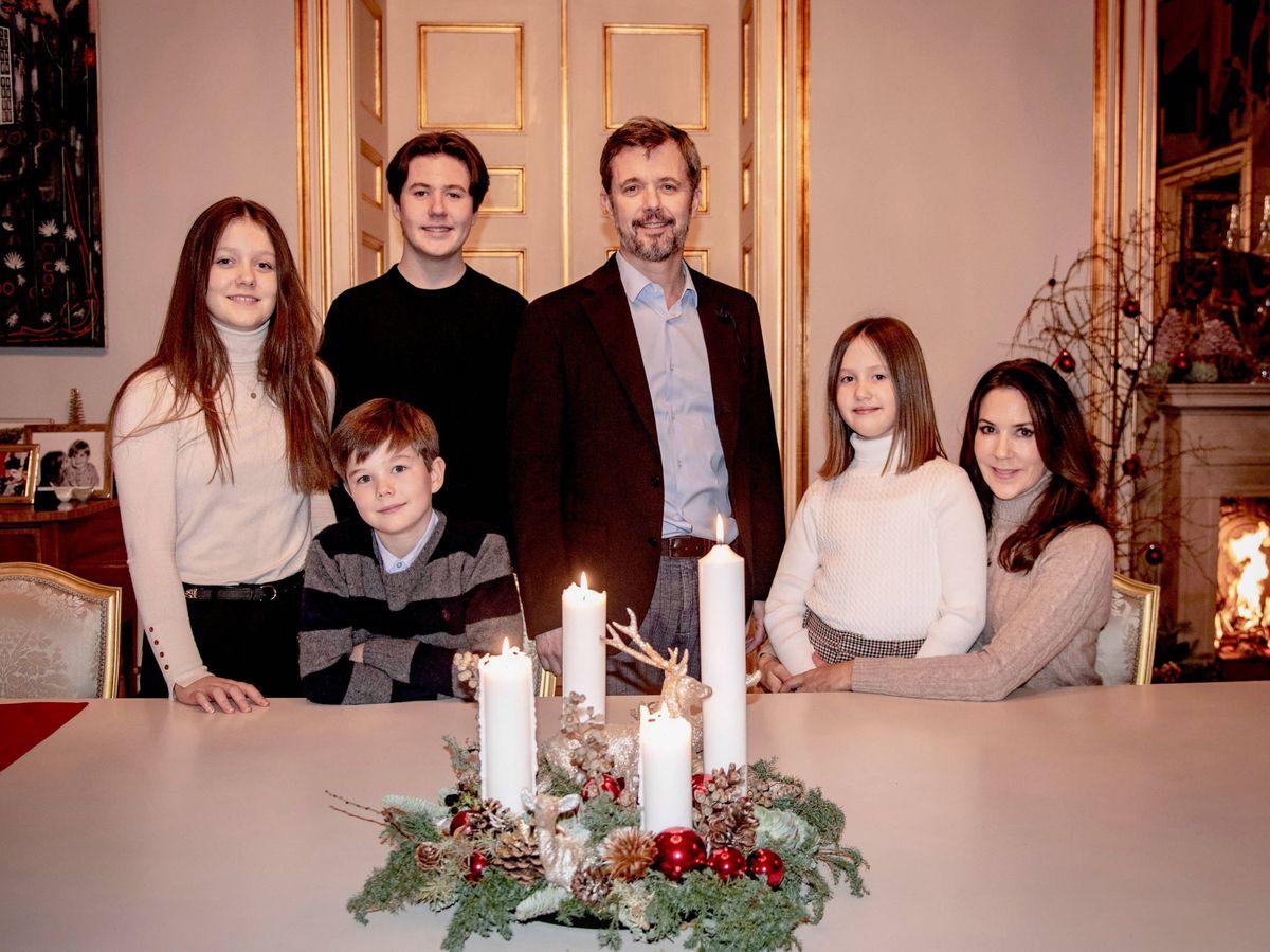 Foto: Federico y Mary, con sus cuatro hijos. (Casa Real de Dinamarca)