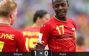 El enfado de Lukaku acaba con su suplente dando el pase a los belgas
