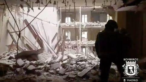 Se derrumba un edificio en Chamberí y buscan a dos obreros que trabajaban dentro