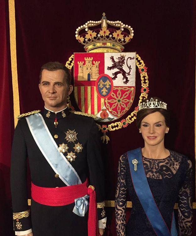 Foto: Letizia y Felipe en la imagen del Museo de Cera. (Facebook)