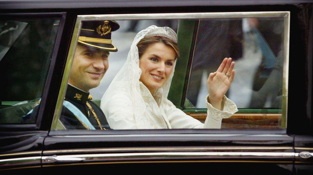 Foto: Letizia y Felipe el día de su boda.(Getty)