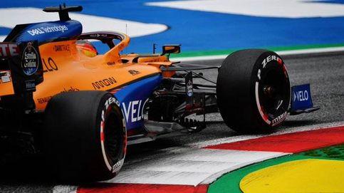 ¡Oh! ¡Esto es rápido! Sainz 'flipa' con la velocidad de su McLaren... y de Racing Point