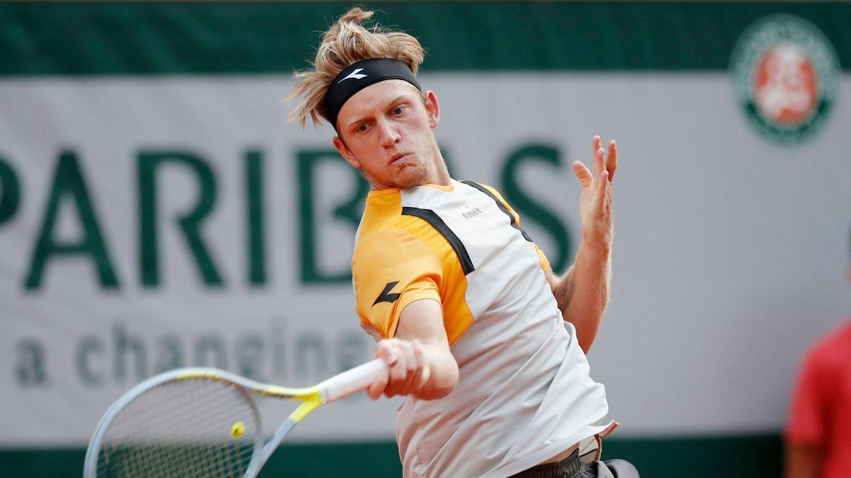 Alejandro Davidovich, en pleno punto de Roland Garros. (Reuters)