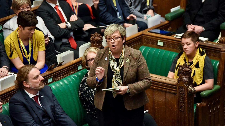 Joanna Cherry durante una sesión de la Cámara de los Comunes. (Reuters)