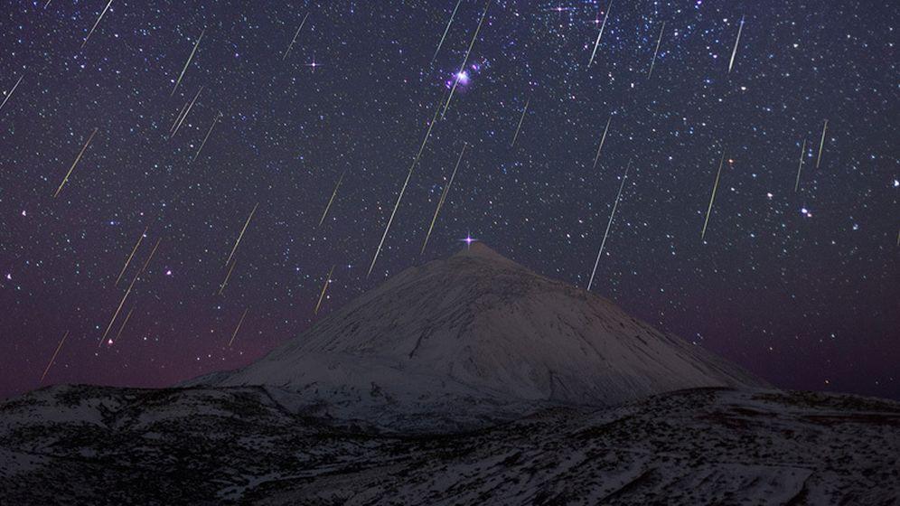 Foto: La lluvia de gemínidas de 2013, captada por el astrofotógrafo Juan Carlos Casado.