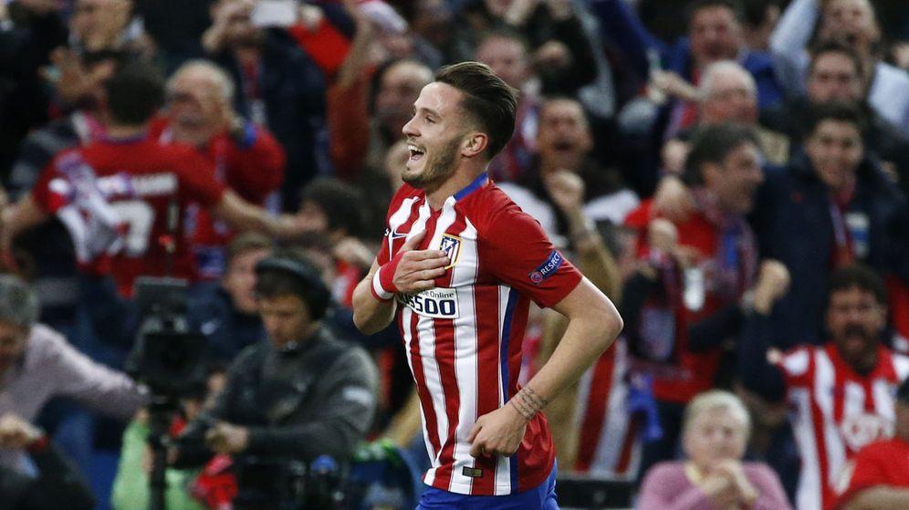 Foto: Saúl celebra el gol que le marcó al Bayern (Juan Medina/Reuters).
