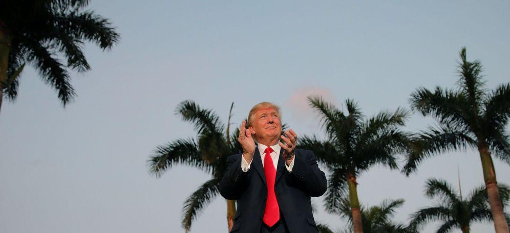 Foto: Donald Trump, en Florida durante la Super Bowl. (Reuters)