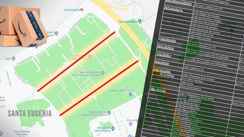 El mapa de las calles a las que no se atreven a entrar los repartidores