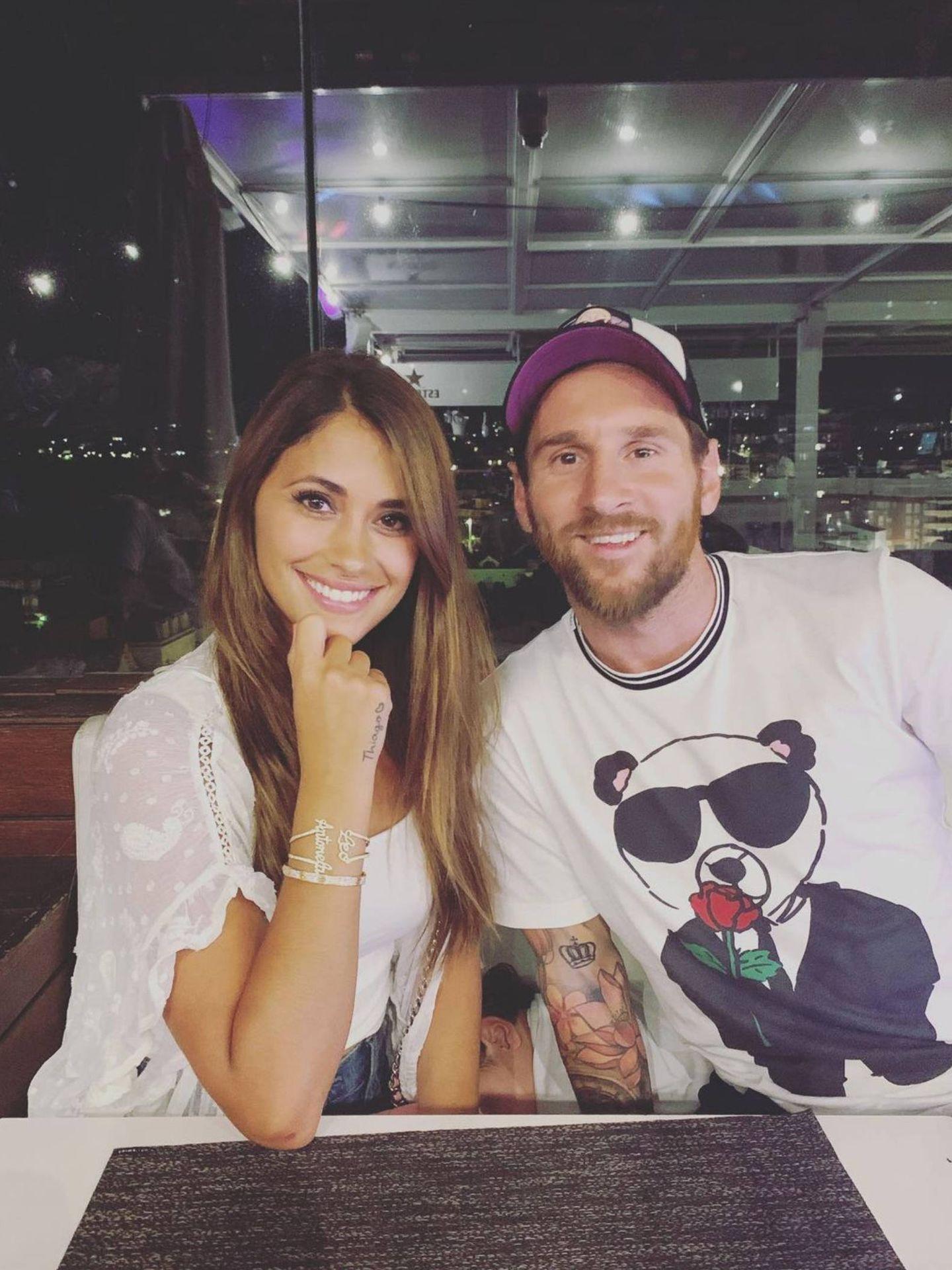 Leo Messi y su mujer, Antonela Roccuzzo. (Instagram @antonelaroccuzzo)