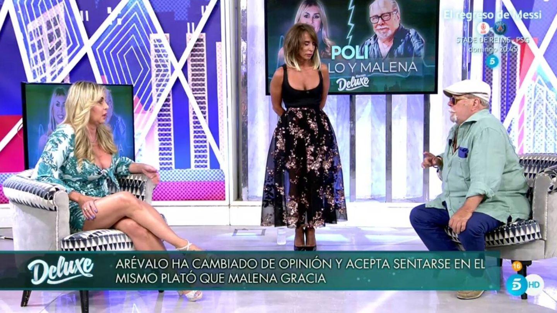 Malena Gracia, Patiño y Arévalo. (Telecinco).