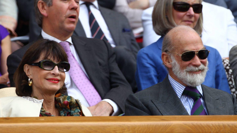 Michael de Kent, con Isabel de Yugoslavia en Wimbledon. (Getty)