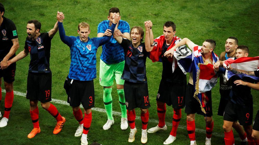Foto: Los croatas celebran su pase a la fina. (Reuters)