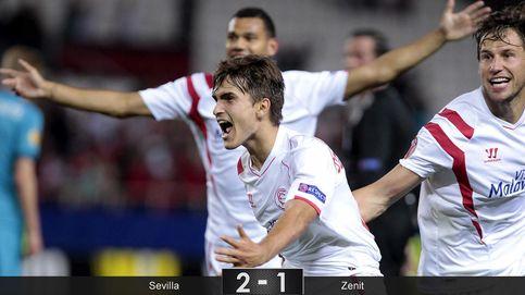 El Sevilla sufre, pero logra subirse al autobús del Zenit con épica europea