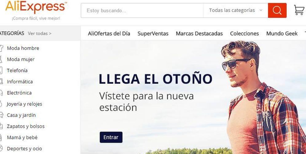 Foto: La web de comercio electrónico Aliexpress.