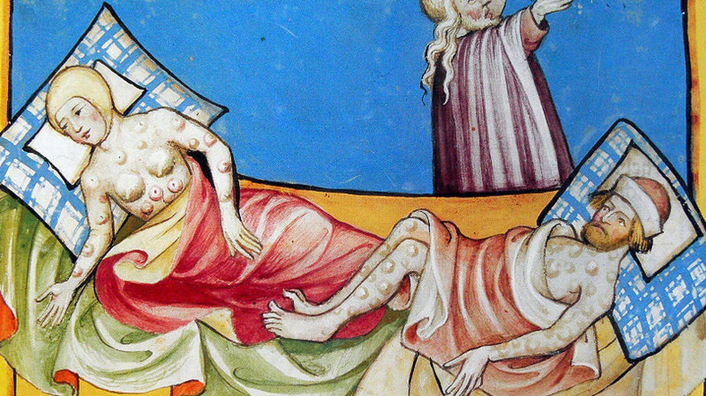 La peste negra, según la Biblia de Toggenburg.