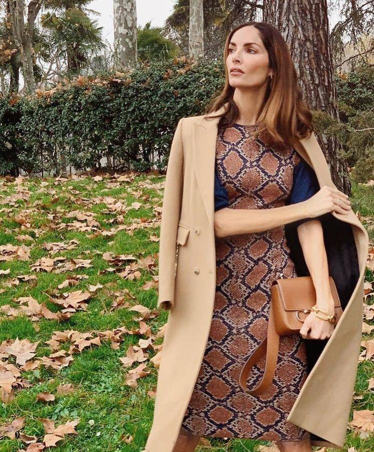 Foto: Eugenia Silva con vestido de Clea Fitz-James. (Redes)