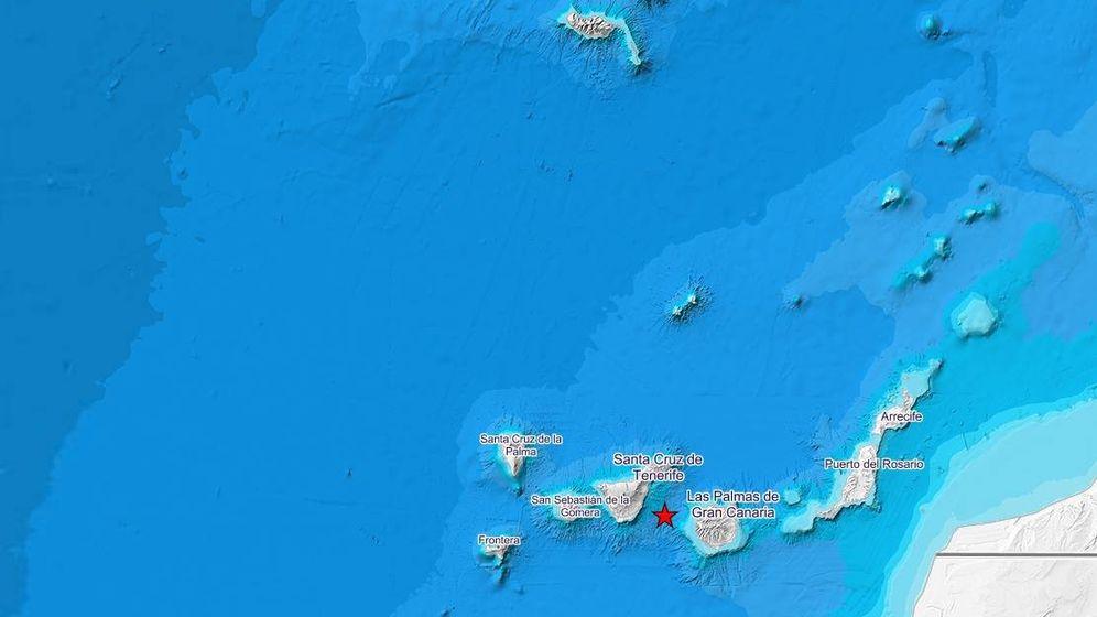 Foto: Epicentro del terremoto cerca de Santa Cruz de Tenerife. (IGN)