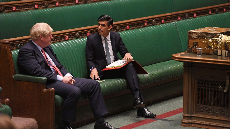 Boris Johnson y Rishi Sunak. (Reuters)