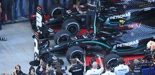 Post de Fórmula 1: Bottas aprovecha la sanción a Hamilton y gana en Rusia con Sainz KO