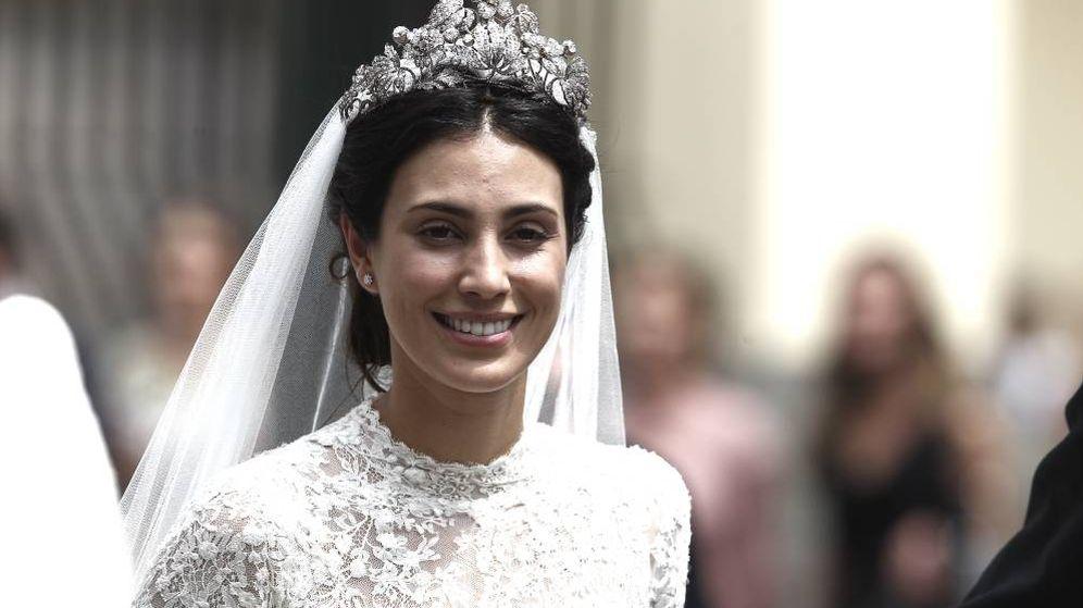 Foto: Sassa de Osma el día de su boda. (Getty)