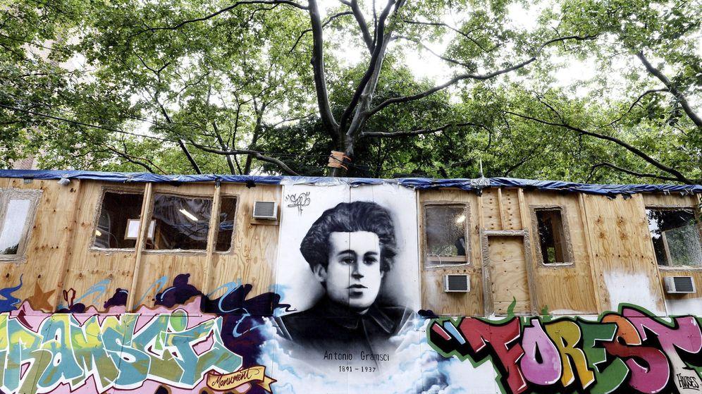 Foto: Monumento a Antonio Gramsci. Foto: EFE/Justin Lane
