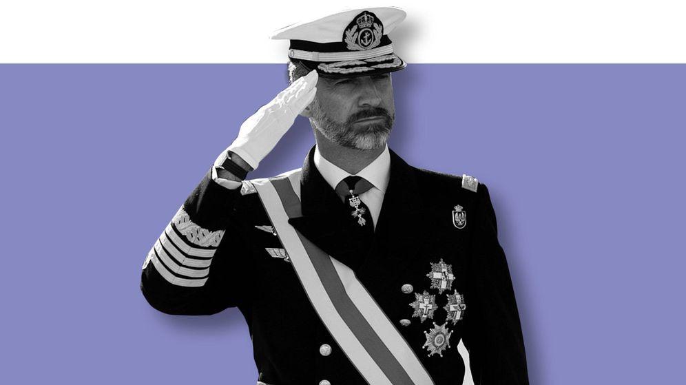 Foto:  Felipe VI, de uniforme. (Imagen de Vanitatis)