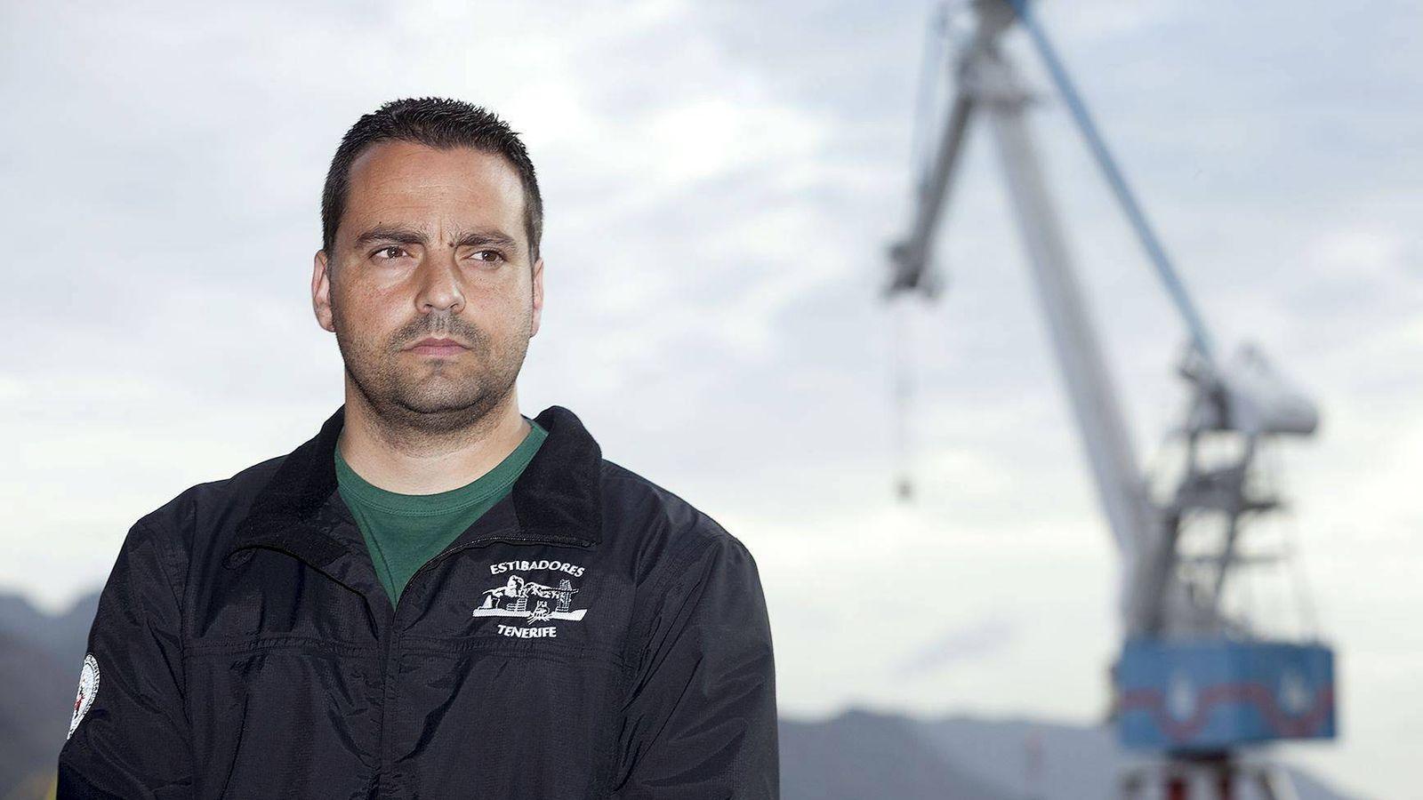 Foto: Antolín Goya, presidente de la Coordinadora de Trabajadores del Mar, líder de los estibadores. (EFE)