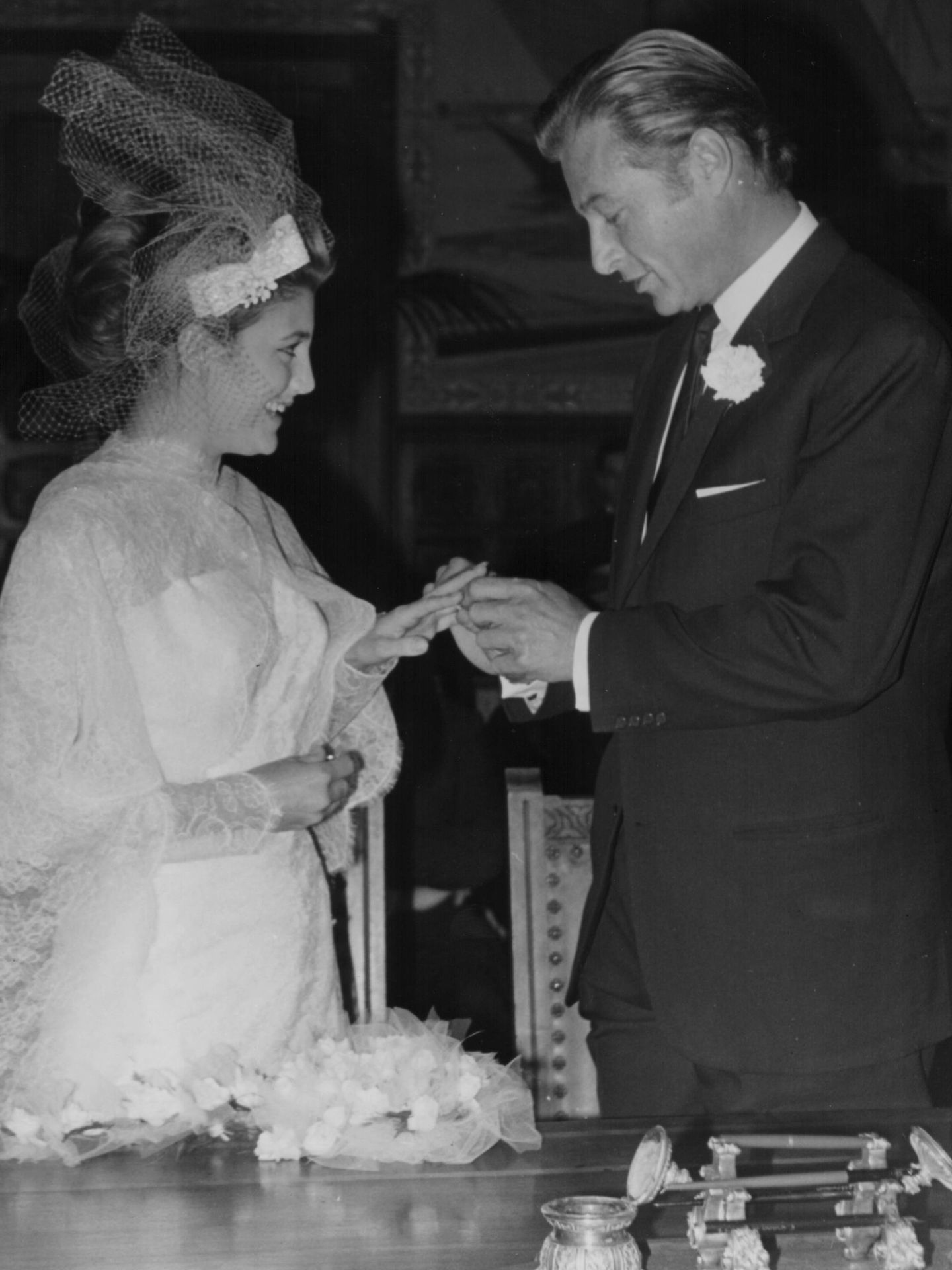 Foto de boda de Lex Barker y Tita Cervera. (Getty)