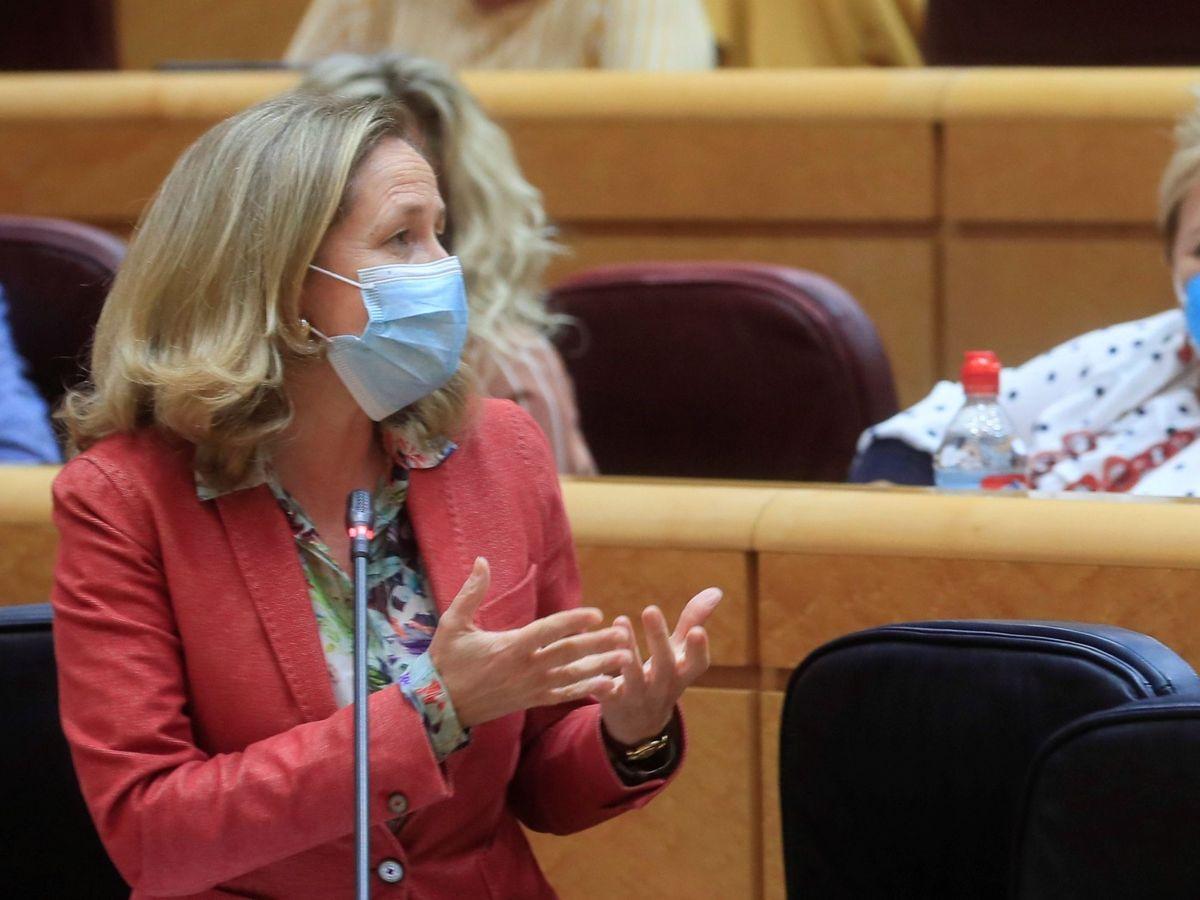 Foto: La ministra de Asuntos Económicos y Transformación Digital, Nadia Calviño. (EFE)