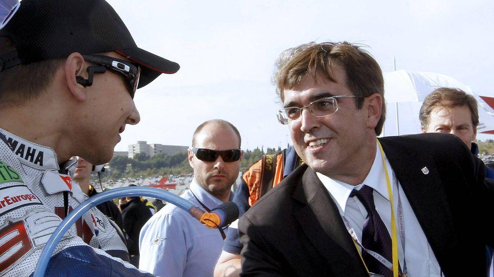 Foto: Jorge Lorenzo, junto al expresidente de Baleaes Francesc Antich (PSOE). (EFE)