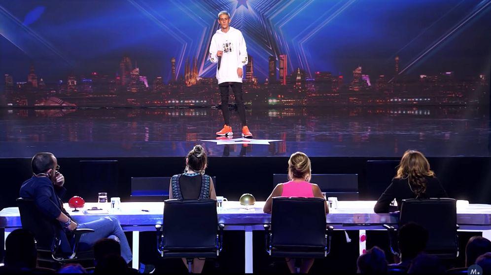 Foto: 'El Cejas' en 'Got Talent'. (Mediaset)