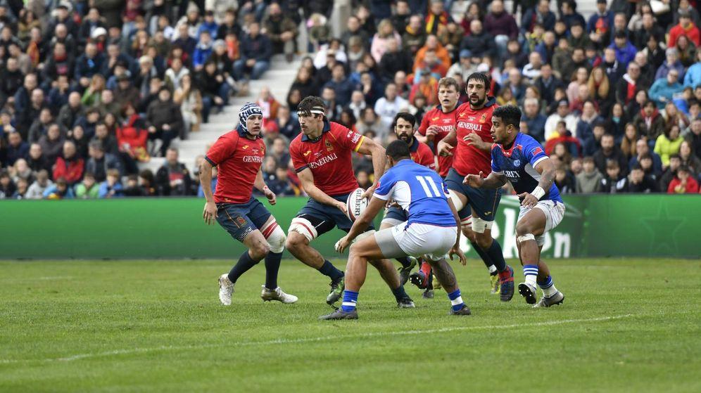 Foto: España perdió ante Samoa este sábado en Madrid. (Foto: Walter Degirolmo/Ferugby)