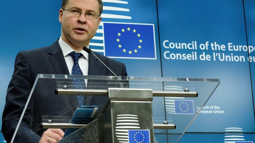 Foto: El vicepresidente de la Comisión Europea, Valdis Dombrovskis. (EFE)