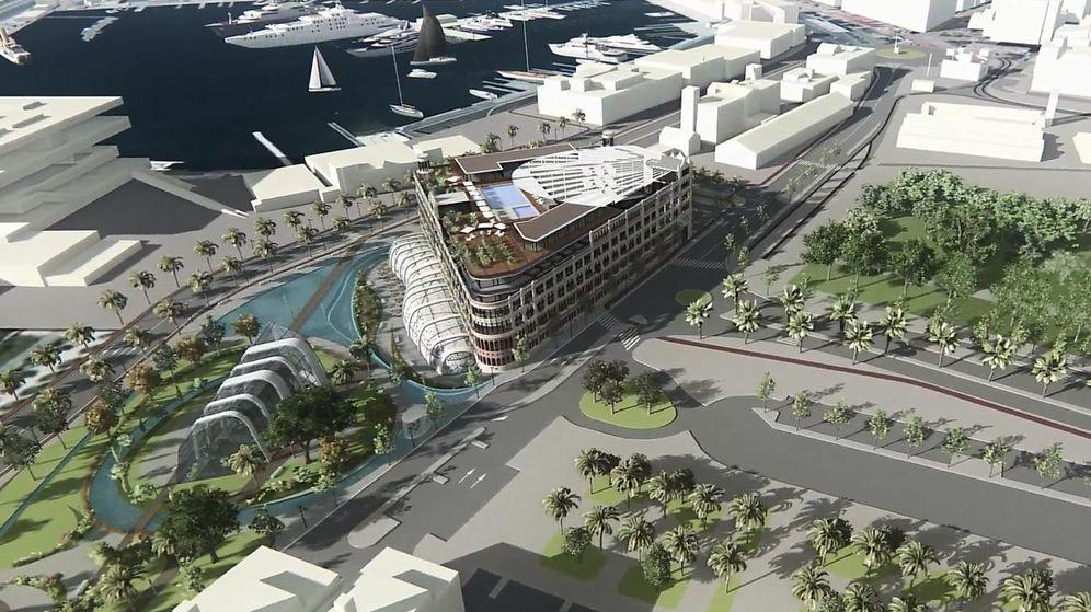 Foto: Proyecto del hotel de lujo con casino en la Marina Real de Valencia.