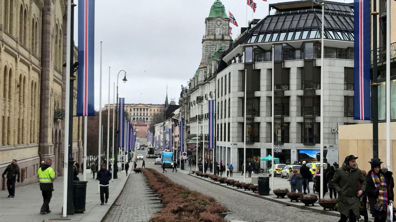 Una calle de Oslo en 2017 (Reuters)