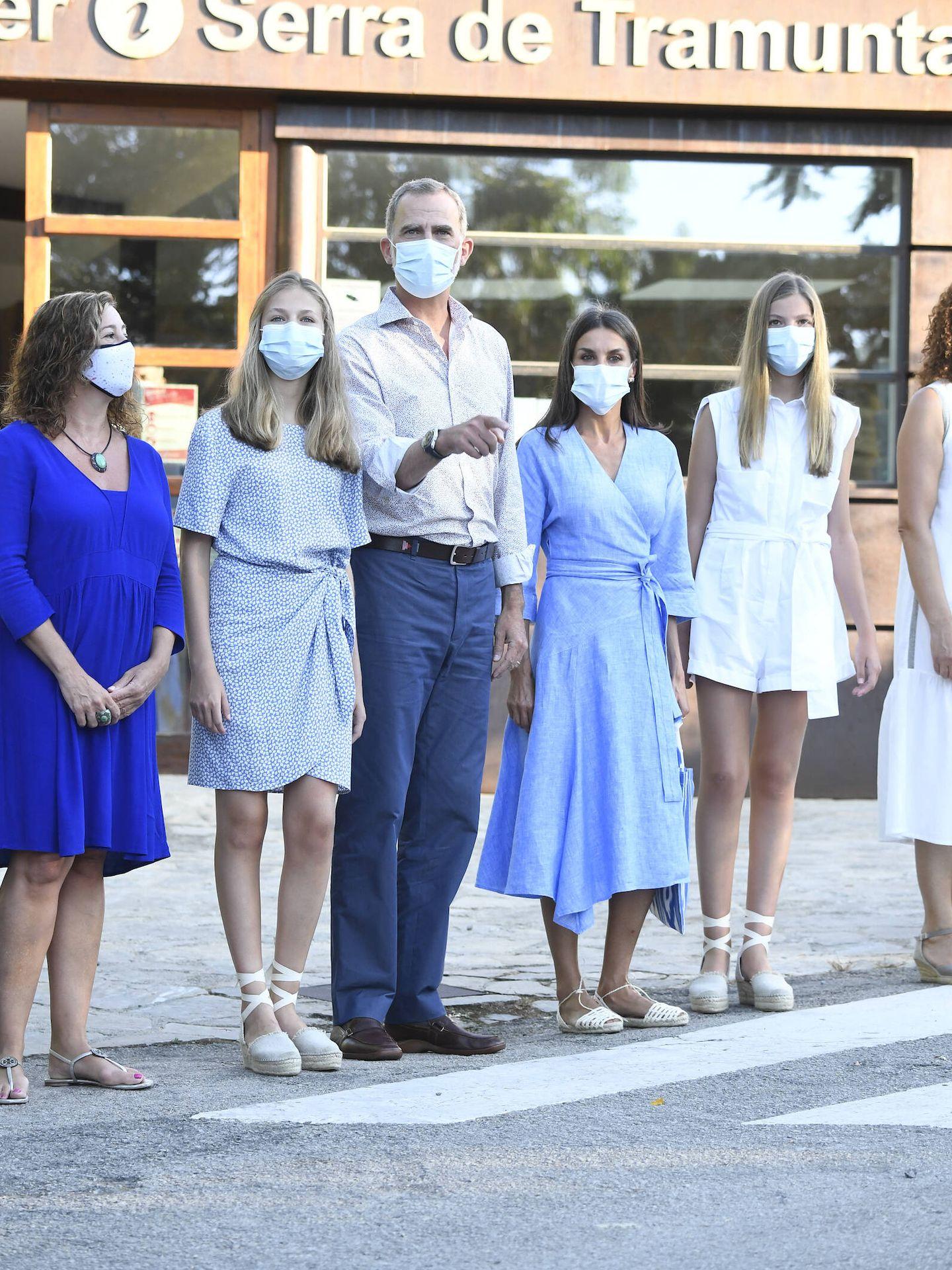 La familia real, este miércoles en Mallorca. (Limited Pictures)