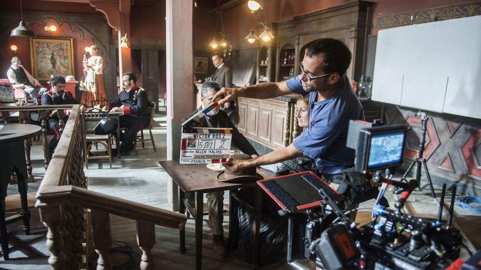 Foto: Imagen del rodaje de 'Víctor Ros' en Guadalajara