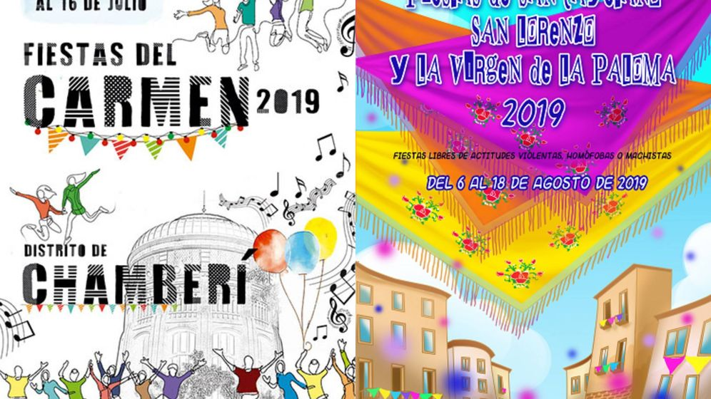 Foto: Carteles de fiestas de 2019