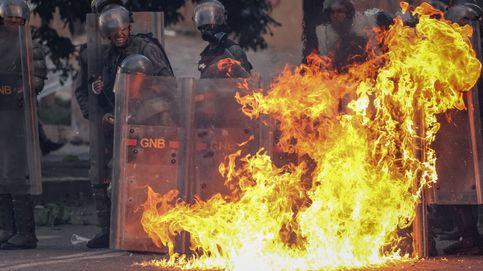 Choques violentos en la huelga de Venezuela