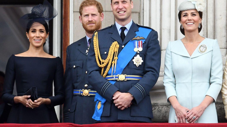 Los duques de Sussex y los duques de Cambridge en una imagen de archivo. (EFE)