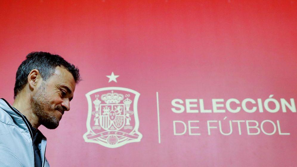 Foto: Luis Enrique, exseleccionador español de fútbol, tras una rueda de prensa. (EFE)