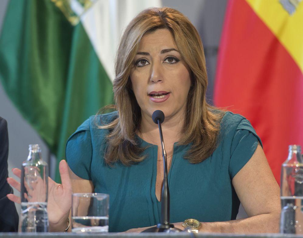 Foto: La presidenta andaluza y líder del PSOE-A, este 25 de julio en Sevilla. (EFE)