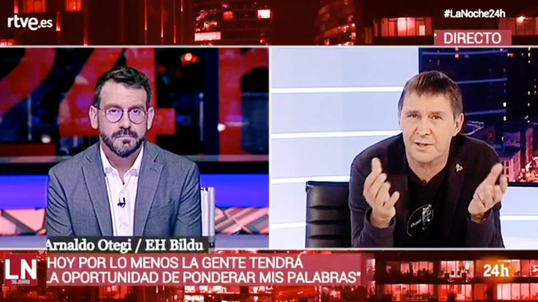 Un Arnaldo Otegi en estado puro elude condenar el terrorismo de ETA en TVE