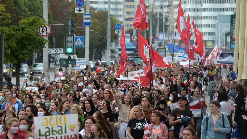 Foto: Manifestación en Bielorrusia. (Reuters)