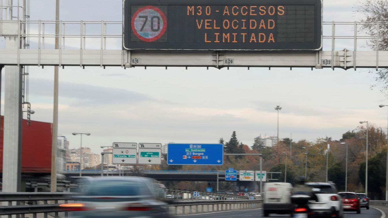 Activado el protocolo por contaminación en Madrid: límite de la velocidad en la M-30