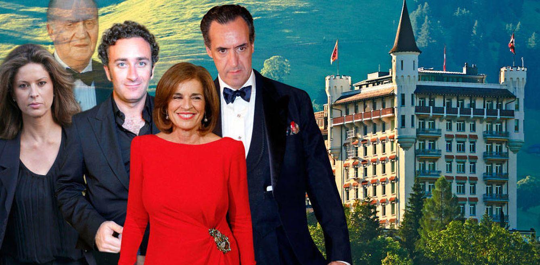 Foto: Elena Cué, Don Juan Carlos, Alejandro Agag, Ana Botella y Jaime de Marichalar en un fotomontaje de Vanitatis