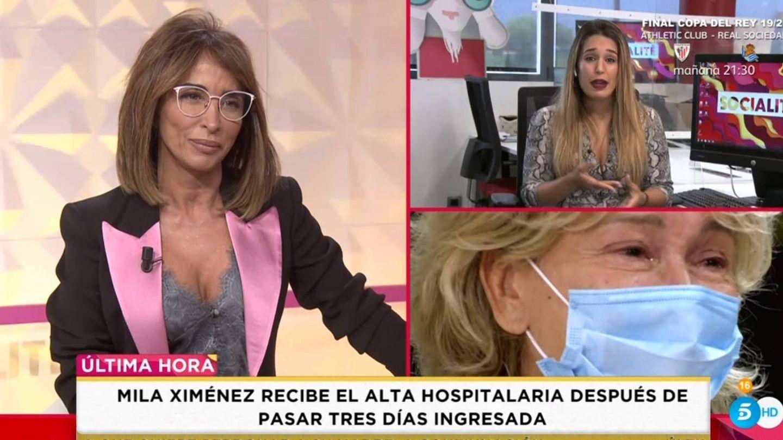 Patiño hablando de Mila Ximénez. (Telecinco).