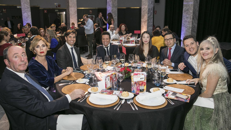 La mesa de Ágatha y Luis Miguel. (Cortesía)