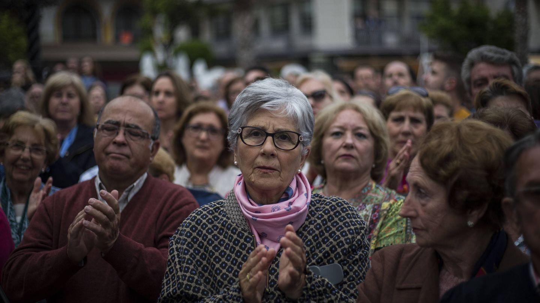 Imagen de la concentración en la plaza Alta de Algeciras contra el narcotráfico en el Campo de Gibraltar. (Fernando Ruso)