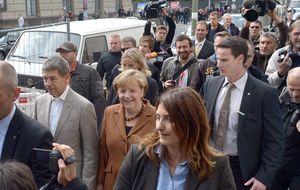 Steinbrück vota y reitera que no estará en una gran coalición